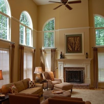 Best 25 Two Story Windows Ideas On Pinterest Two Story Fireplace Living Room With Windows