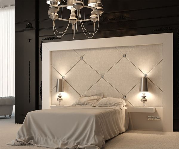 Stylish and unique headboard ideas for beautiful bedrooms for Large headboard ideas