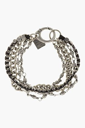 GOTI Silver Four Chain Bracelet