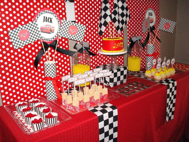 "Photo 1 of 10: Disney's Cars / Birthday ""Jack's 4th Birthday"" | Catch My Party"