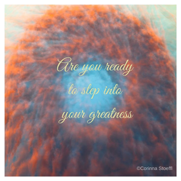 Are you ready to step into your greatness? on top of one of my photographic mandalas