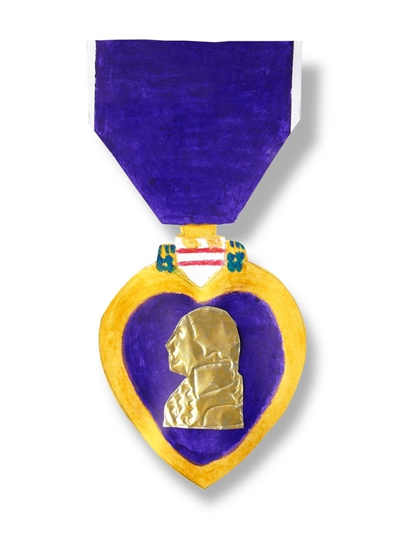 To celebrate #ArmedForcesDay, children can create this #DIY craft to accurately reproduce a #Purple #Heart medal while learning about its history and meaning.