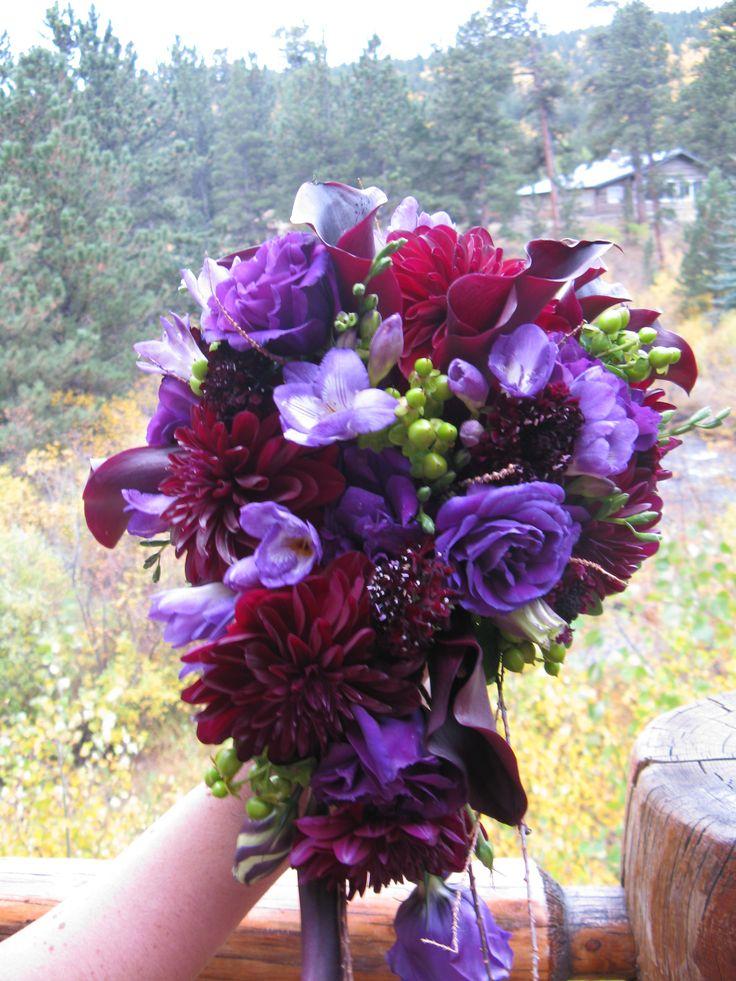 #purple wedding flowers, #purple wedding, #dahlias