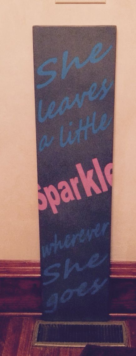 4 foot tall she leaves a little sparkle board sign for Signs for little girl rooms