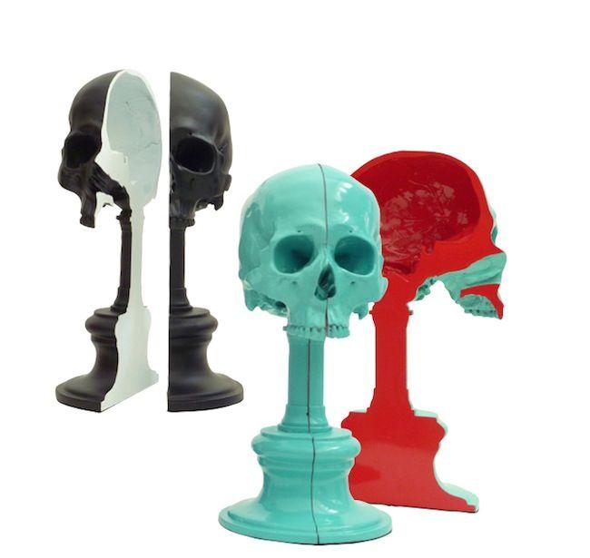 Skull bookends - Sobeitstudio.com Dim: (h)345mm x (w)160mm x (d)120mm