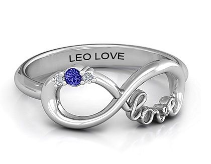 "Sapphire blue infinity ring. ""Law enforcement officer love"". Can't get enough of this adorable thin blue line ring with a girly twist."