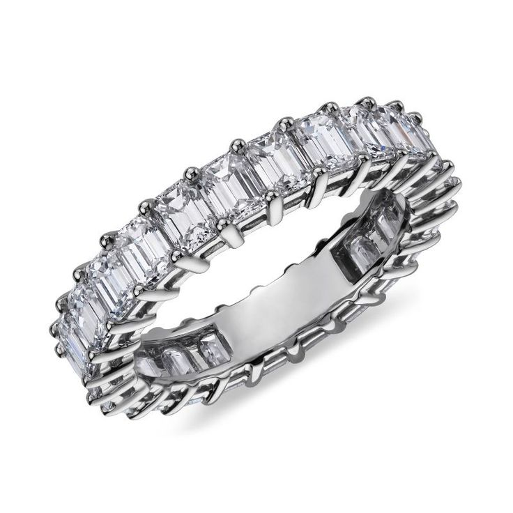 Emerald Cut Diamond Eternity Ring Platinum (4 ct. tw.), Women's, Platinum Diamond emerald