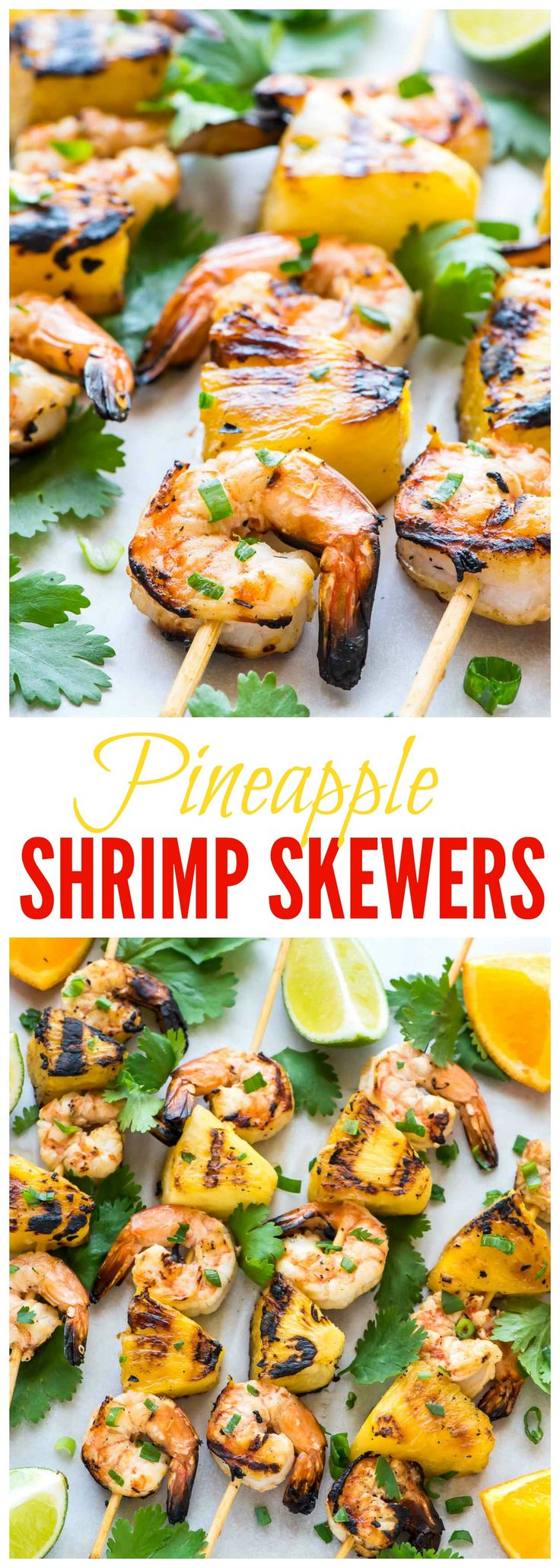 Coconut Pineapple Shrimp Skewers recipe — These shrimp kabobs are OUTSTANDING. By far the easiest, best way to cook shrimp! Perfect for summer grilling and parties.