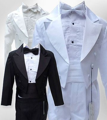Outfits and Sets 147333: Baby Boys 5 Pcs Tuxedo Christening Tail Suit Page Boy Communion Outfit Suits -> BUY IT NOW ONLY: $27.99 on eBay!
