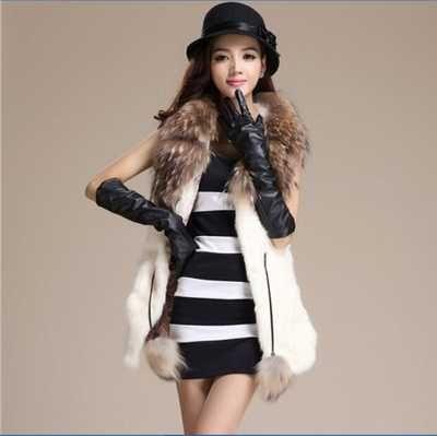 >> Click to Buy << Classic Style Female Rabbit Fur Waistcoat Gilet Women Knitted Rabbit Fur Vest Coat Raccoon Fur Outerwear A3973 #Affiliate