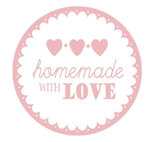 Homemade with love label wit | Zelfgemaakte handscrub