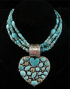 Navajo turquoise | Rocki GormanIndian Turquoise, Turquoise Necklaces, Healthy Weights, Native Bling, Turquoise Jewelry, Loss Method, Weights Loss, Jewelry Turquoise, Healthy Weight Loss