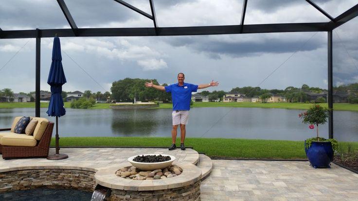 Swimming Pool Screen Enclosure - Orlando - Wide Picture Window Views - Screened In Swimming - Pool Enclosure - Sanford - Florida - Florida Swimming Pools