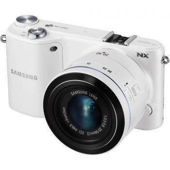 Samsung NX2000, 20.3 MP, White + Obiectiv 20-50mm, White - eMAG.ro