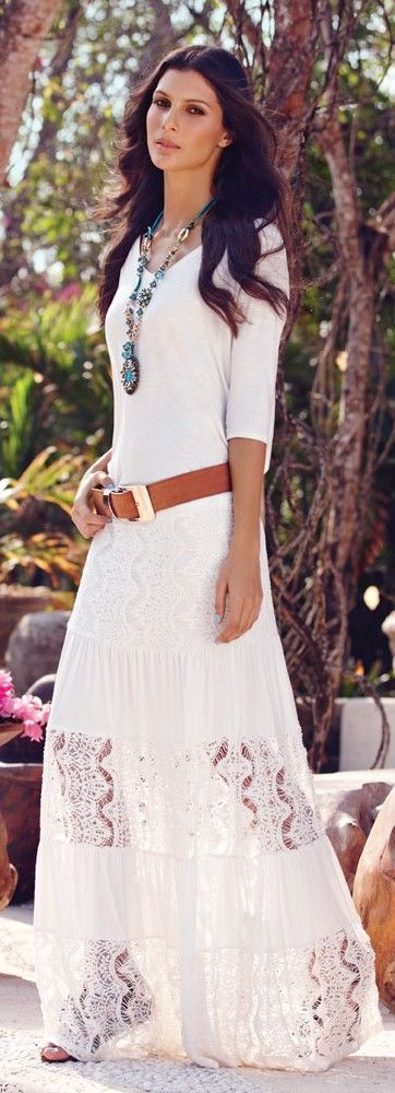 Bohemian Summer Maxi Dress women fashion outfit clothing style apparel @roressclothes closet ideas