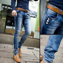 La primavera y el verano de hombre jeans para hombres pantalones delgados pies de moda stretch