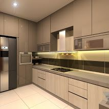 Terrace House Design For Kitchen In Kampar, Perak, Malaysia. #WHYDESIGN #爲