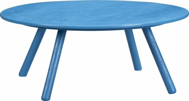 Fun idea -- brightly painted furniture for a color pop. circuit electric blue coffee table  | CB2