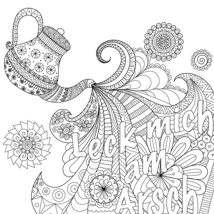 Die 25 besten ideen zu bilder zum ausmalen auf pinterest bilder zum ausdrucken mandala - Mandala a imprimer pour adulte ...