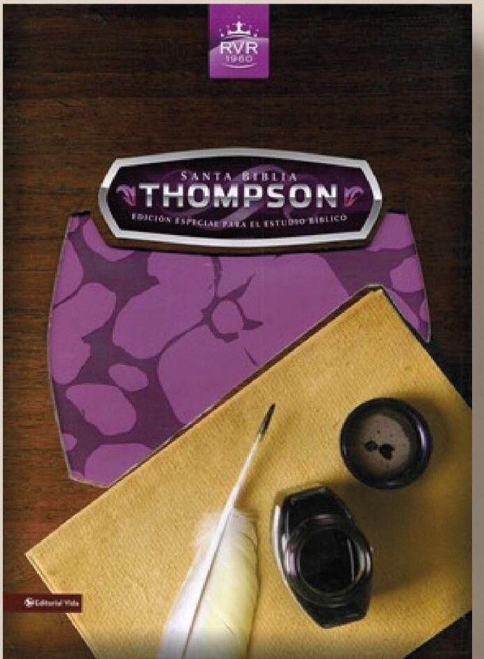 Biblia de estudio orquídea Thompson dos tonos RVR60