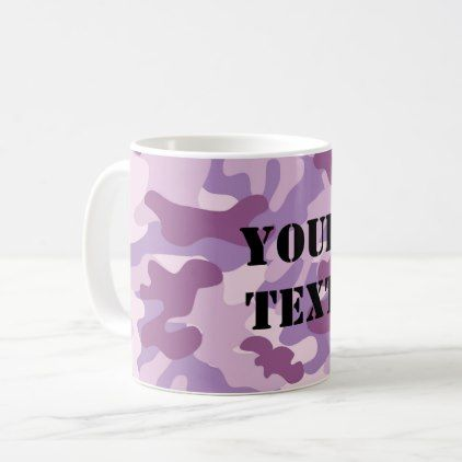 Purple Lilac Color Camouflage Pattern Personalized Coffee Mug - home decor design art diy cyo custom