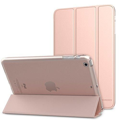 MoKo Case for iPad Mini 3 / 2 / 1 Ultra Slim Lightweight Smart-shell Stand Cover with Translucent Frosted Back Protector for Apple iPad Mini 1 / Mini 2 / Mini 3 Rose GOLD (with Auto Wake / Sleep)