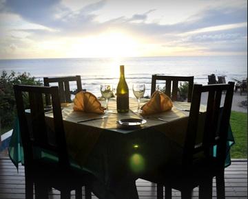 Enjoy romantic sunset dining on the beach at White Grass Ocean Resort #vanuatu