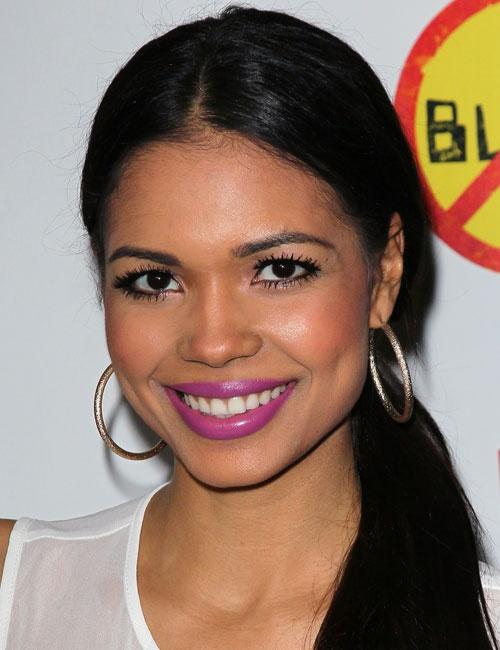 Jennifer Freeman in pretty purple lipstick