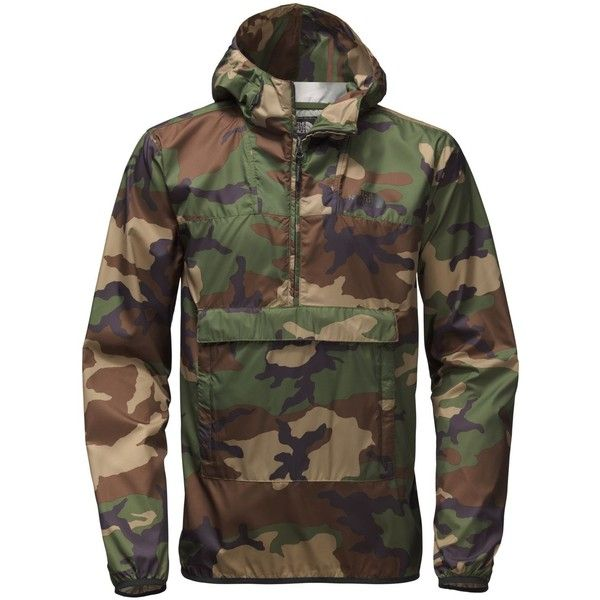 The North Face Men's Fanorak Jacket ($79) ❤ liked on Polyvore featuring men's fashion, men's clothing, men's outerwear, men's jackets, terrarium green camo, mens jackets, mens green jacket, mens waterproof jacket and mens camo jacket