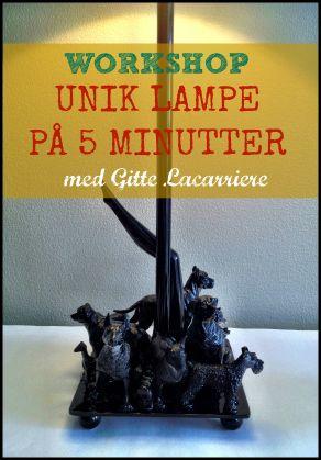 Unik lampe på 5 minutter….ny online workshop! Se www.lacarriere.dk
