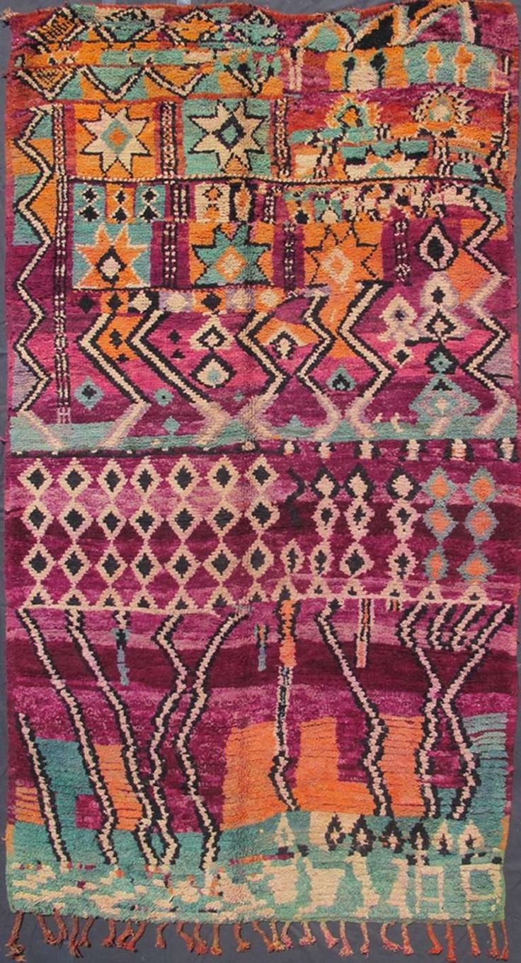 Colorful Moroccan   From a unique collection of antique and modern moroccan and north african rugs at https://www.1stdibs.com/furniture/rugs-carpets/moroccan-rugs/