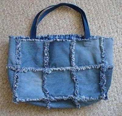 Como hacer un bolso de tela jean