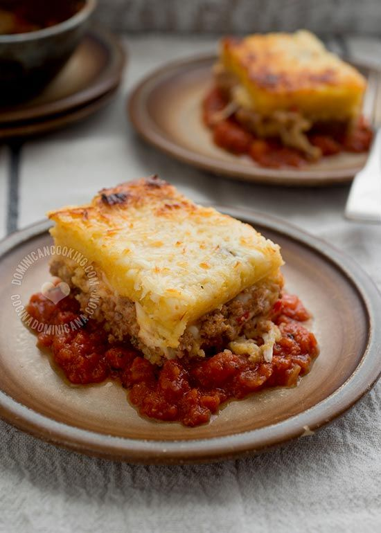 Think of Pastelón de Harina de Maíz (Cornmeal & Beef Casserole) as the lovechild of polenta and lasagna. It combines the best of both worlds.