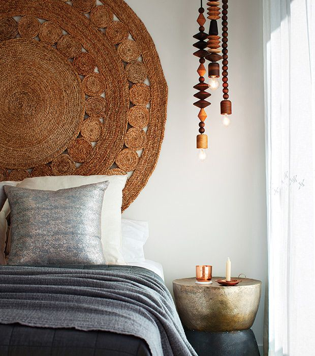 A Woven Hemp Rug Works Beautifully As A Headboard, Thanks To Its Organic  Woven Texture