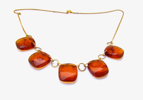 Amber necklace Genuine amber necklace by RussianTreasureHouse