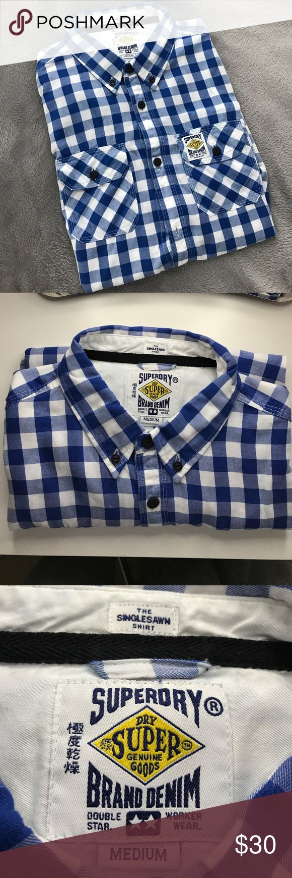 Superdry SingleSawn Button Down Superdry SingleSawn Button Down. New without tags. Superdry Shirts Casual Button Down Shirts