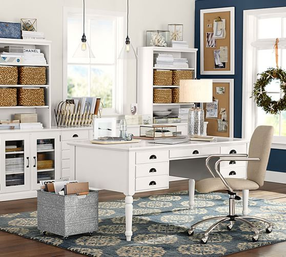 104 best images about home office decor on pinterest for Pottery barn printer s desk reviews