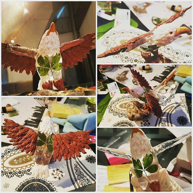 Eagle of Luck    #eagle #stone #clover #claywork #fimo #sculpey #resin #resinart #adler #stein #klee #modellieren #modelliermasse #gießharz #fliegen #fly #feathers #federn #figure #miniature