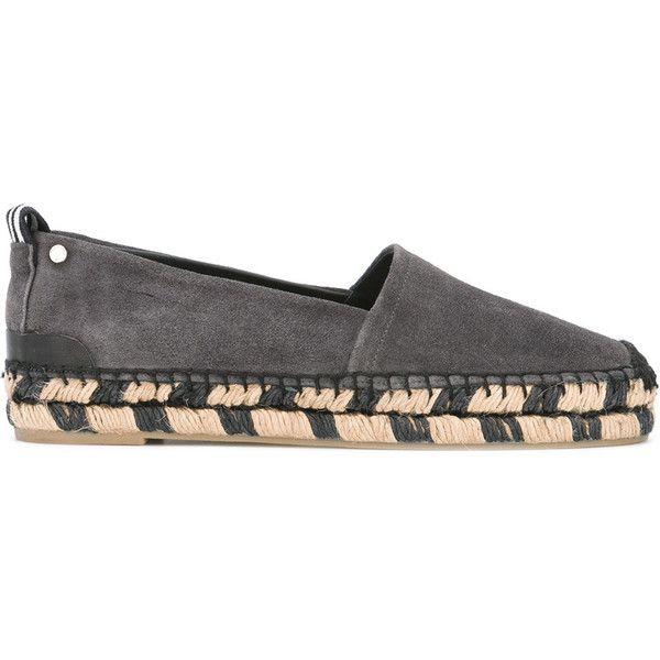 Rag & Bone - bicolour sole espadrilles - women - Raffia/Leather/Calf... ($255) ❤ liked on Polyvore featuring shoes, sandals, grey, grey espadrilles, grey leather shoes, grey sandals, gray sandals and espadrilles shoes