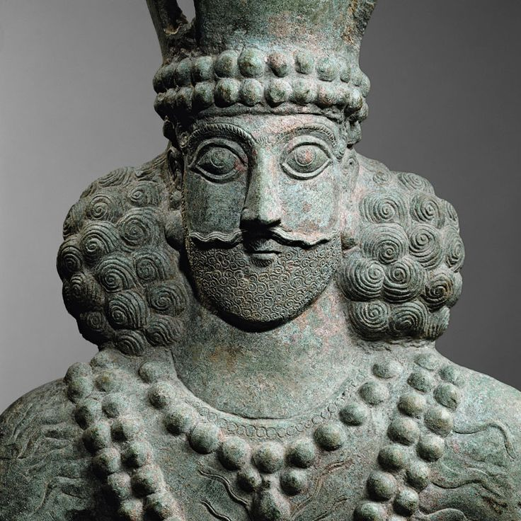 A Bronze Bust of Sassanid King (Shapur II) Culture : Persia Period : 4th century A.D