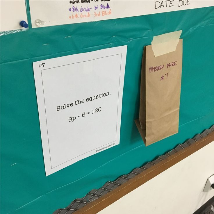 Mystery Prize Review Activity for middle school math (or any grade)! This was such a fun way for my 6th grade math and 8th grade math students to review algebra concepts. This blog post explains how students solved the review problems for a chance to win the mystery prizes!