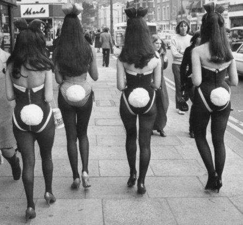 Playboy Bunnies, London, ca. 1970s