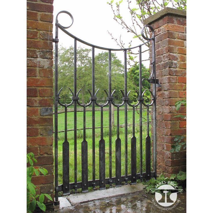 Contemporary Forged Iron Gate