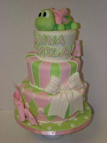 seaturtle cake for baby shower | turtle topsy turvy baby shower cake | Flickr - Photo Sharing!