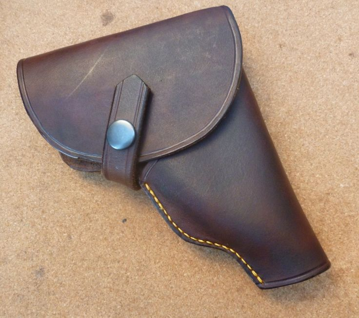 Flapped holster for Sauer model 1913 pistol - custom made leather holsters by makeitjones.co.uk