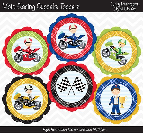 motorbike template for cake - 17 best images about motorcycle racing cupcake toppers on
