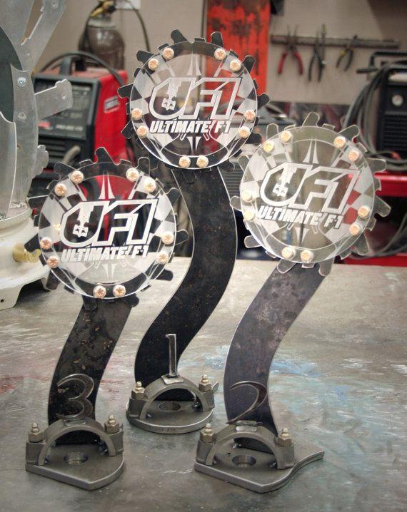 Race Trophies Custom made from Metals set of by RefineriiStudio