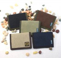 Hemp Bi-fold Wallet in solid colors or natural. A better gift for a better world. Only $22.95 at Kasper Organics.