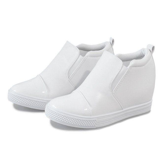 Biale Sneakersy Na Koturnie Dd409 2 Top Sneakers Puma Fierce Sneaker High Top Sneakers