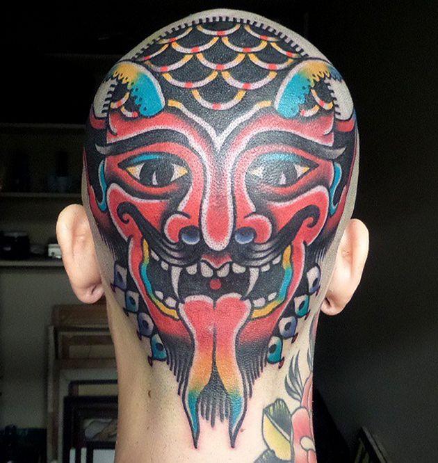 devil-head345345   Henna Beauty & tattoos   Pinterest